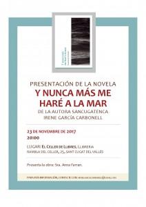 Cartel presentación El Celler de Llibres